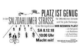 Aktion Salzdahlumer Straße – Wir nehmen Platz!