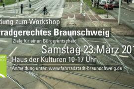 "Anmeldung Workshop ""Fahrradgerechtes Braunschweig"""