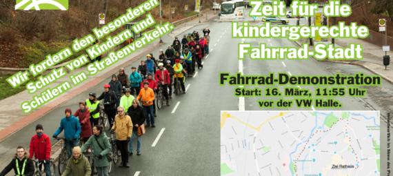Aufruf Fahrraddemo kindergerechte Fahrradstadt