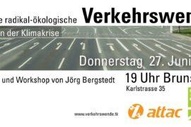 Radikale Verkehrswende: Vortrag Brunsviga 27.6.