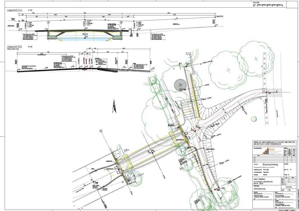 Neue Sidonienbrücke und ihr Umfeld in den Planungen der Verwaltung