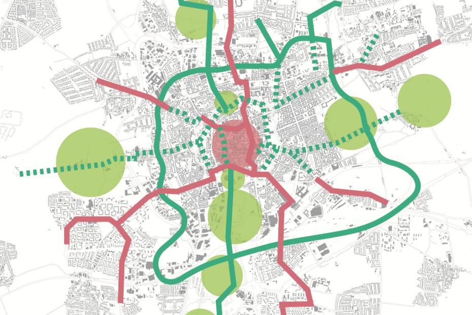 Vorschlag für ein Netz hochwertiger Fuß- und Radverbindungen