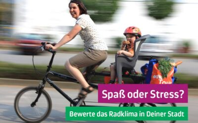 Fahrradklimatest des ADFC: mitmachen bis 30.11.