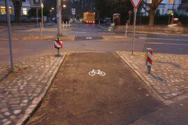 Fahrrad-Querung des Wallrings über die Sonnenstraße / Am Hohen Tore fertig