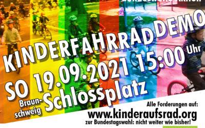 Kinderfahrraddemo zur Bundestagswahl